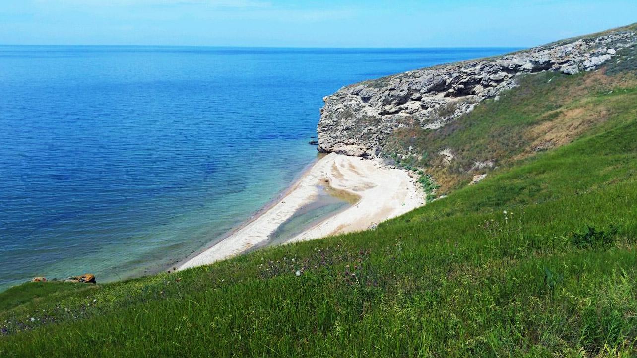 дикие пляжи на азовском море крым фото